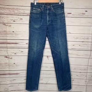 Versace Jeans | High Rise Straight Leg Jean